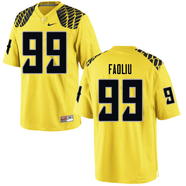 Men #99 Austin Faoliu Oregn Ducks College Football Jerseys Sale-Yellow