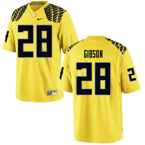 Men #28 Billy Gibson Oregn Ducks College Football Jerseys Sale-Yellow