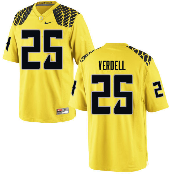 Men #25 CJ Verdell Oregn Ducks College Football Jerseys Sale-Yellow