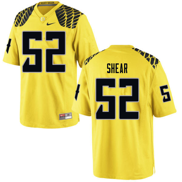 Men #52 Cody Shear Oregn Ducks College Football Jerseys Sale-Yellow