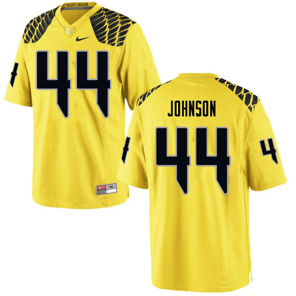Men #44 D.J. Johnson Oregn Ducks College Football Jerseys Sale-Yellow