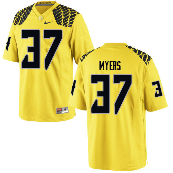 Men #37 Dexter Myers Oregn Ducks College Football Jerseys Sale-Yellow