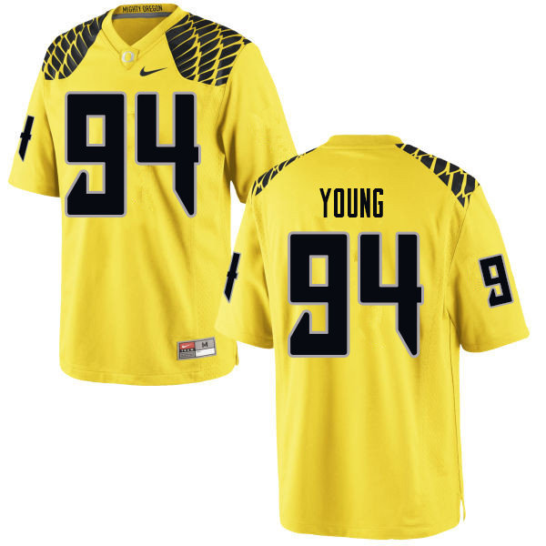 Men #94 Malik Young Oregn Ducks College Football Jerseys Sale-Yellow
