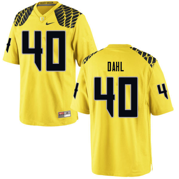Men #40 Noah Dahl Oregn Ducks College Football Jerseys Sale-Yellow