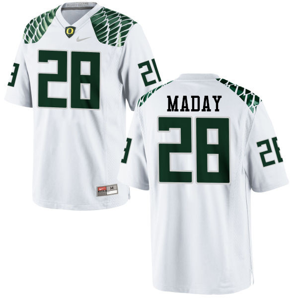 Men #28 Chayce Maday Oregon Ducks College Football Jerseys-White